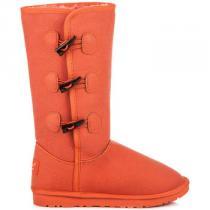 Torna Vysoké sněhule s kožíškem Oranžová - dámské