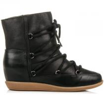Vices Pohodlné boty s kožíškem Černá - dámské