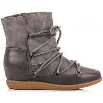 Vices Pohodlné boty s kožíškem Stříbrná - dámské