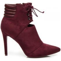 Betler Elegantní boty na jehlovém podpatku Červená - dámské