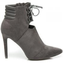 Betler Elegantní boty na jehlovém podpatku Stříbrná - dámské