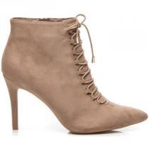 Betler Vázané boty na jehlovém podpatku Hnědá - dámské
