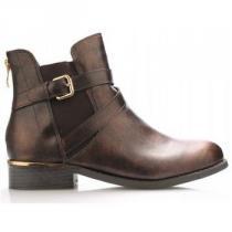 Claudia Ghizzani Bronzové boty se zlatým podpatkem - dámské