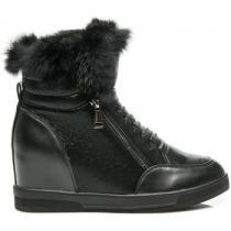Cnb Sportovní boty s kožíškem Černá - dámské