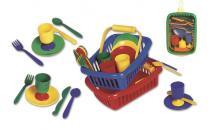 Alltoys Piknikový set mini v košíku