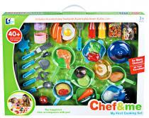 G21 Dětské plastové nádobí s jídlem 30ks