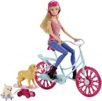 Mattel Barbie cyklistka s pejsky