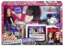 Mattel Barbie módní salón krásy se třpytkami