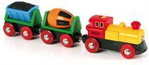 BRIO Elektrická mašinka s vagónky a světly