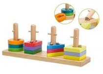Johntoy Skládačka dřevěná různé tvary