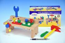 Detoa Stůl s nářadím dřevo 8ks
