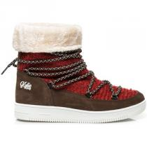 Kylie Pohodlné sněhule Červená - dámské