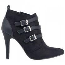 Alex Silva Černé boty na podpatku s pásky - dámské