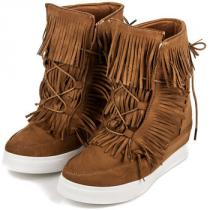 Coco Perla Boho sneakery Hnědá - dámské
