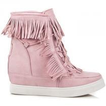 Coco Perla Boho sneakery Růžová - dámské