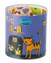 Aladine Dřevěná razítka Kočky