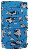 4Fun dětský multifunkční šátek funny cow blue kid