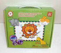 Mac Toys Vybarvovací puzzle zvířátka