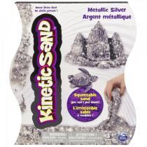 Kinetic Sand Metallic stříbrný 454g