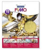 FIMO kovové plátky zlatý 10 ks