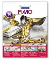 FIMO kovové plátky stříbrný 10 ks