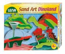 LENA Dinopark z barevného písku veké balení
