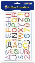 PLAYBOX Destičky pro zažehlovací korálky Písmena a čísla