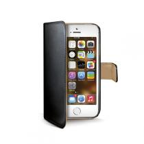 Celly Wally pro Apple iPhone 5 / 5S / SE černá (WALLY185)