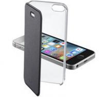 CellularLine Clear Book pro Apple iPhone 5 / 5S / SE černá (CLEARBOOKIPH5K)