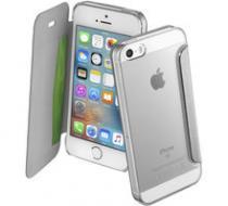 CellularLine Clear Book pro Apple iPhone 5 / 5S / SE stříbrná (CLEARBOOKIPH5S)
