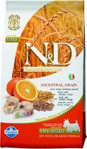 N&D Low Grain Dog Adult Mini Codfish and Orange 7 kg