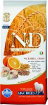 N&D Low Grain Dog Adult Maxi Codfish and Orange 12 kg