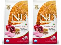 N&D Low Grain Adult Chicken & Pomegranate 2 x 12 kg