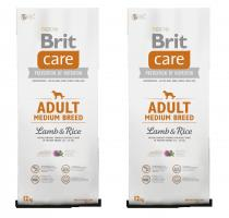 Brit Care Dog Adult Medium Breed Lamb & Rice 2 x 12kg