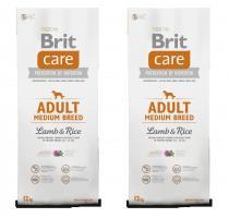 Brit Care Dog Adult Medium Breed Lamb & Rice 2x12kg