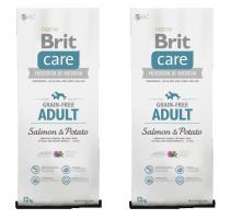 Brit Care Dog Grain-free Adult Salmon & Potato 2x12kg