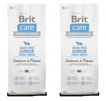Brit Care Dog Grain-free Junior LB Salmon & Potato 2x12kg