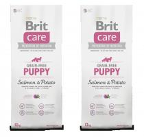 Brit Care Dog Grain-free Puppy Salmon & Potato 2x12kg