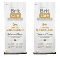 Brit Care Dog Grain-free Senior Salmon & Potato 2x12kg