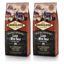 Carnilove Dog Lamb & Wild Boar for Adult 2x12kg