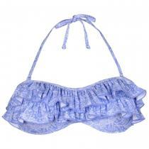 SoulCal Pleated Bikini Top Blue Paisley