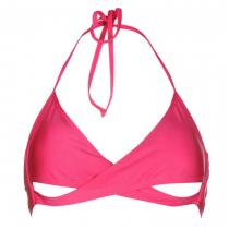 Golddigga Cross Over Bikini Top Fuchsia Pink