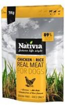 NATIVIA REAL MEAT CHICKEN+RICE 1kg