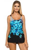 Lorin tankiny Camilla černé s modrými květy