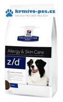 Hills Canine z/d Ultra Alergen Free (dieta) 3kg