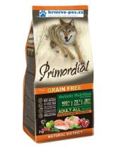 Primordial GF Adult kuře & losos pro dospělé psy 12kg