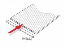 Lanitplast PC U profily 4 mm pro skleník DODO 8x5