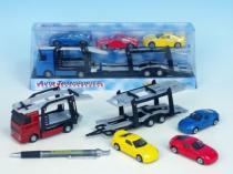 Mikro Trading Auto přepravník + 3 auta 1:60 27cm