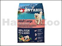 ONTARIO Adult Large 7 Fish & Rice 2,25kg