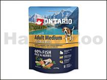 ONTARIO Adult Medium 7 Fish & Rice 0,75 kg